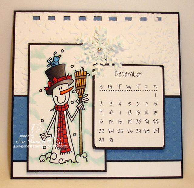 Simply Handcrafted: Bugaboo Stamps Snowman 2012 Mini Calendar