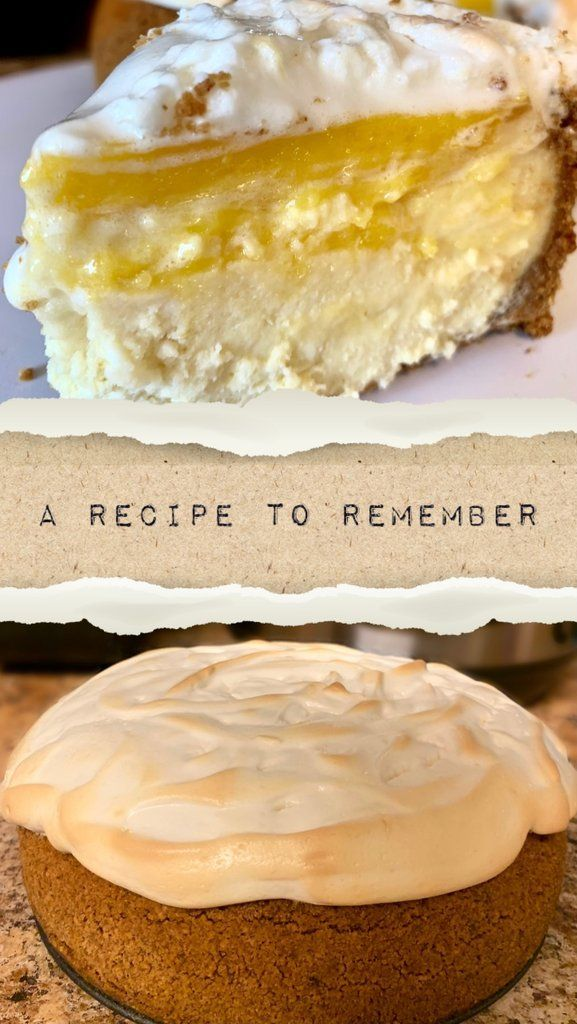 Instant Pot Lemon Meringue Cheesecake #lemonmeringuecheesecake
