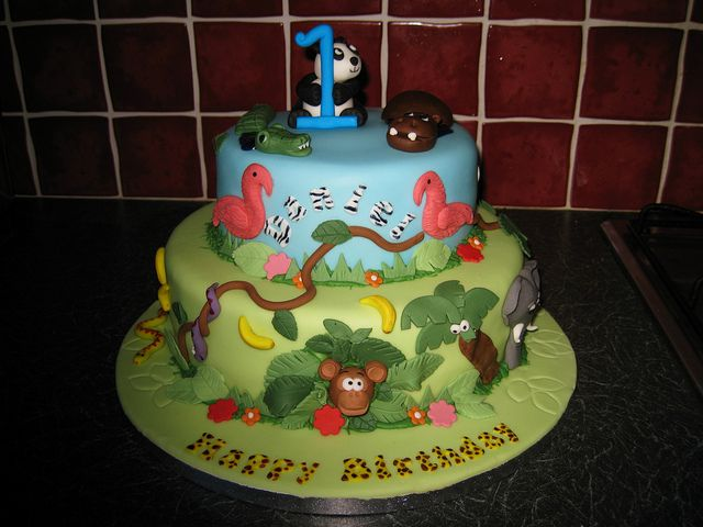 Jungle Safari 1st Birthday Cake Safari Birthday Cakes Birthday