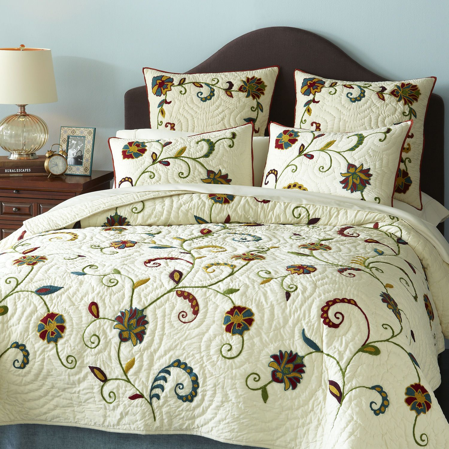 Vivian Floral Bedding   Quilt from Pier One with my Riverway walls  Yes. Vivian Floral Bedding   Quilt from Pier One with my Riverway walls