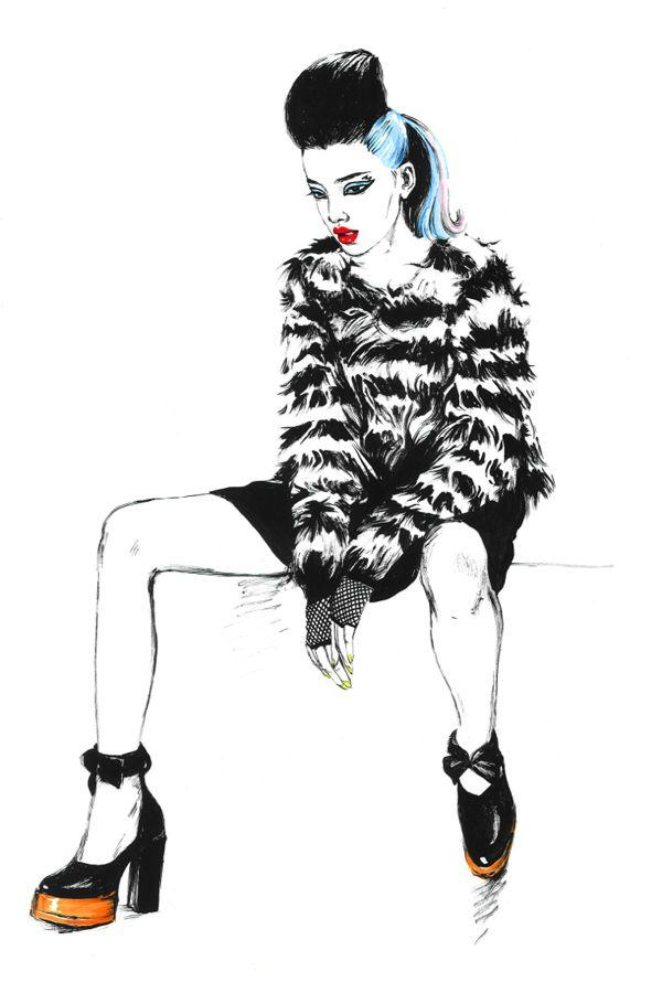 Chloe. Editorial illustrations. by Diana Kuksa (Nesypova