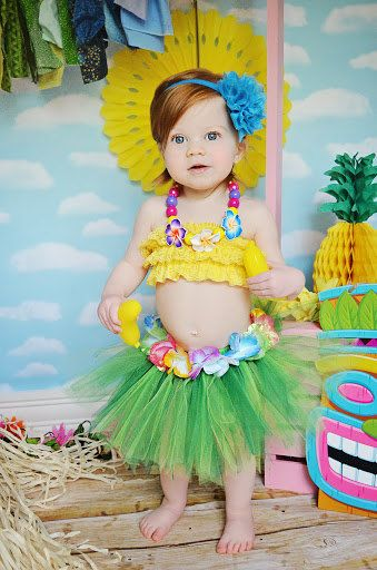 Hawaiian TUTU ONLY luau party photo prop baby by BowPeepsAndMore 0c1d14b46ea
