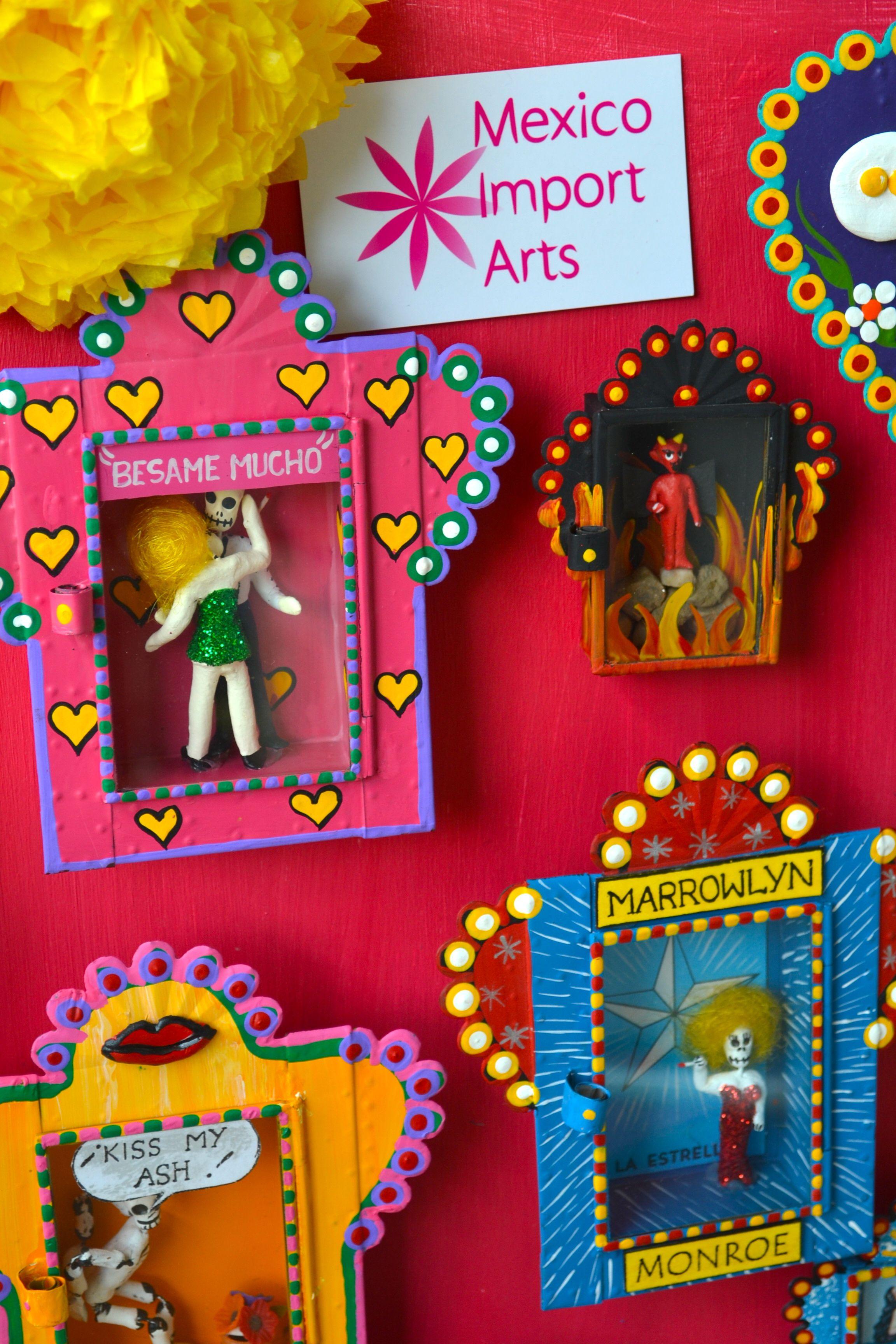 Nichos Kitsch Mexican Altar Boxes Shoe Box Alter