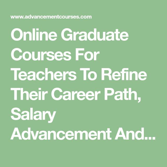Online teacher courses for credit