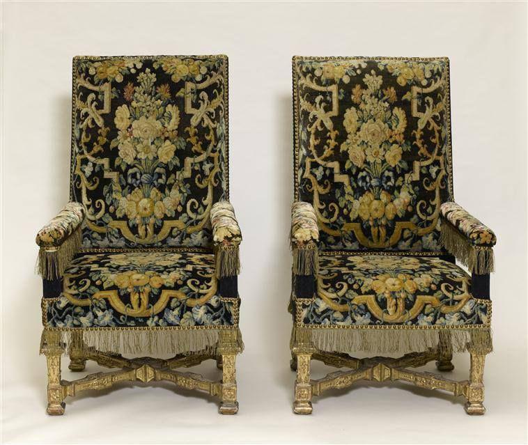 Paire de fauteuil de style Louis XIV, vers 1680 - Musée National ...