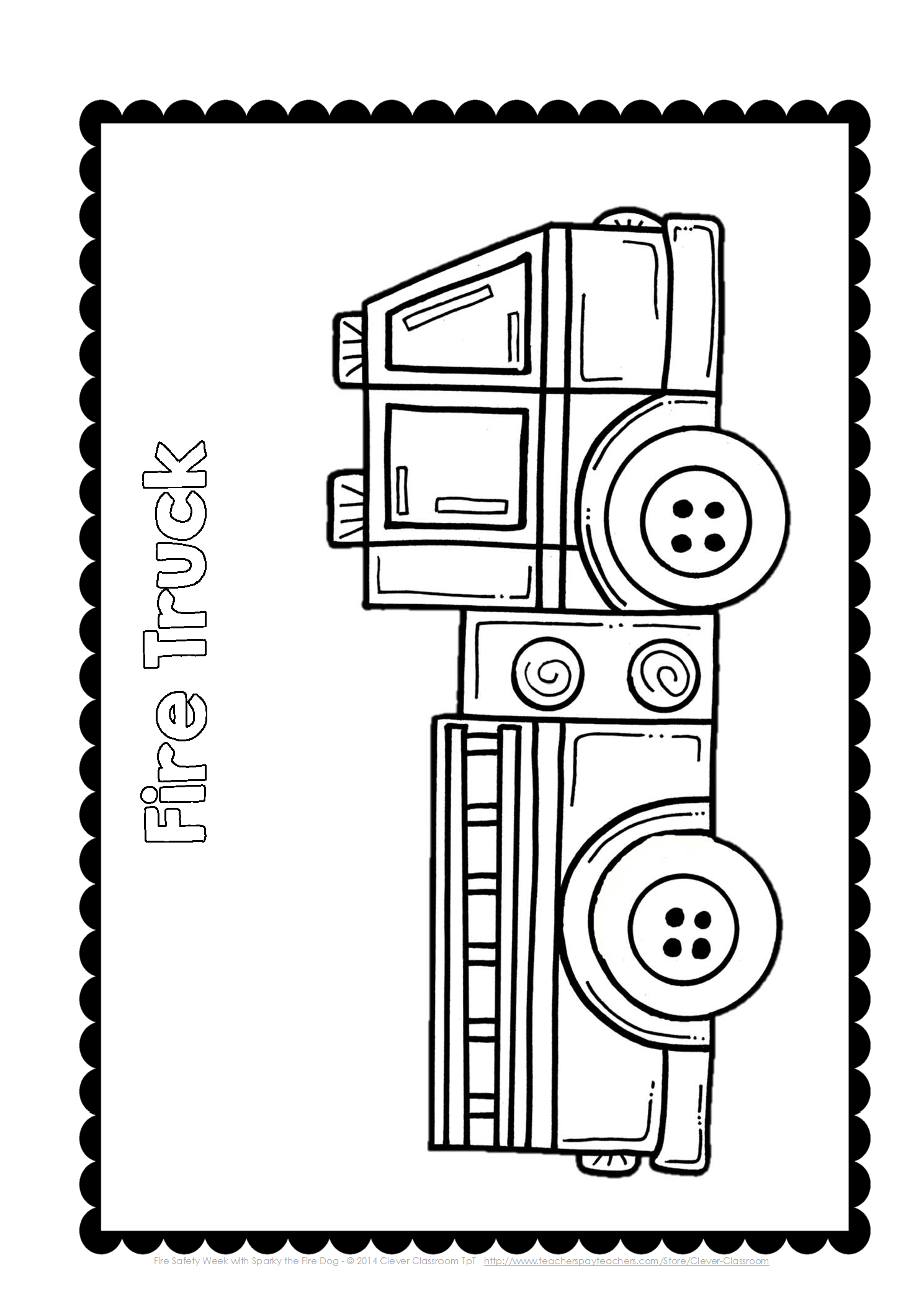 Fire Truck Printable For Fire Safety Week