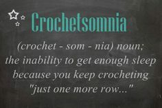 Crochetsomnia.  Who has it?