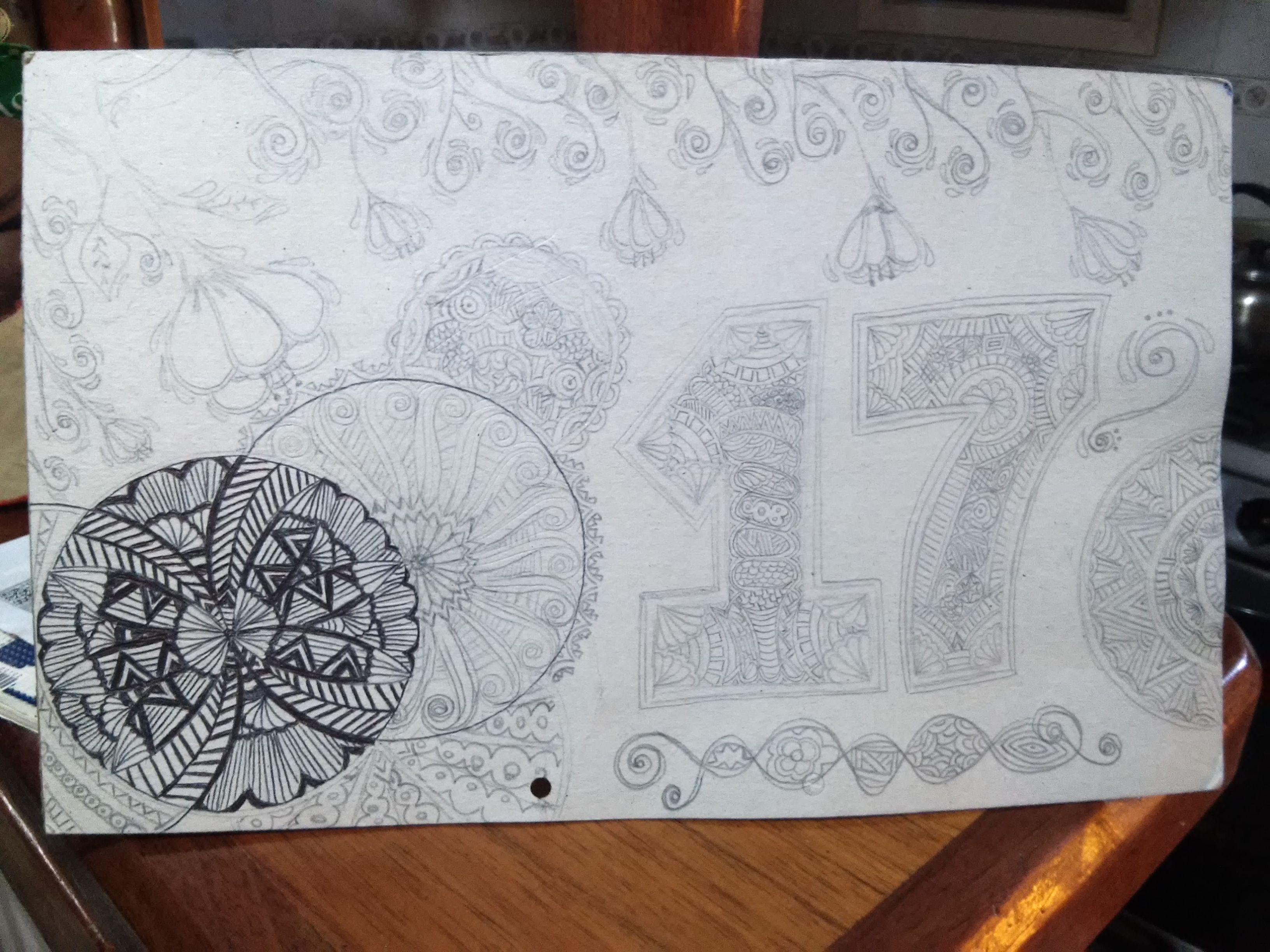 Dibujo Numero 17 Decorado Home Decor Decor Tapestry