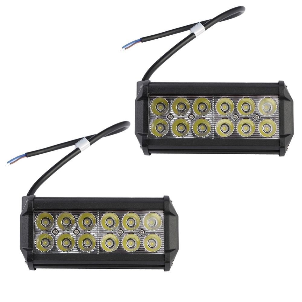 2 Stücke 2520Lm 36 Watt High Power Wasserdichte LED Offroad Arbeitslicht Weg Von der Treibendem Licht mit 12 stücke 3 Watt LED für Auto Lkw Boot