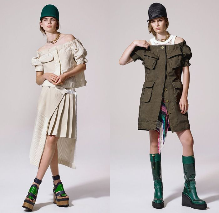 e07cea7c70b5 Sacai by Chitose Abe 2017 Resort Cruise Pre-Spring Womens Lookbook  Presentation - Afghan Embroidery Mexican Blankets Poncho Cutout Shoulders  Outerwear ...