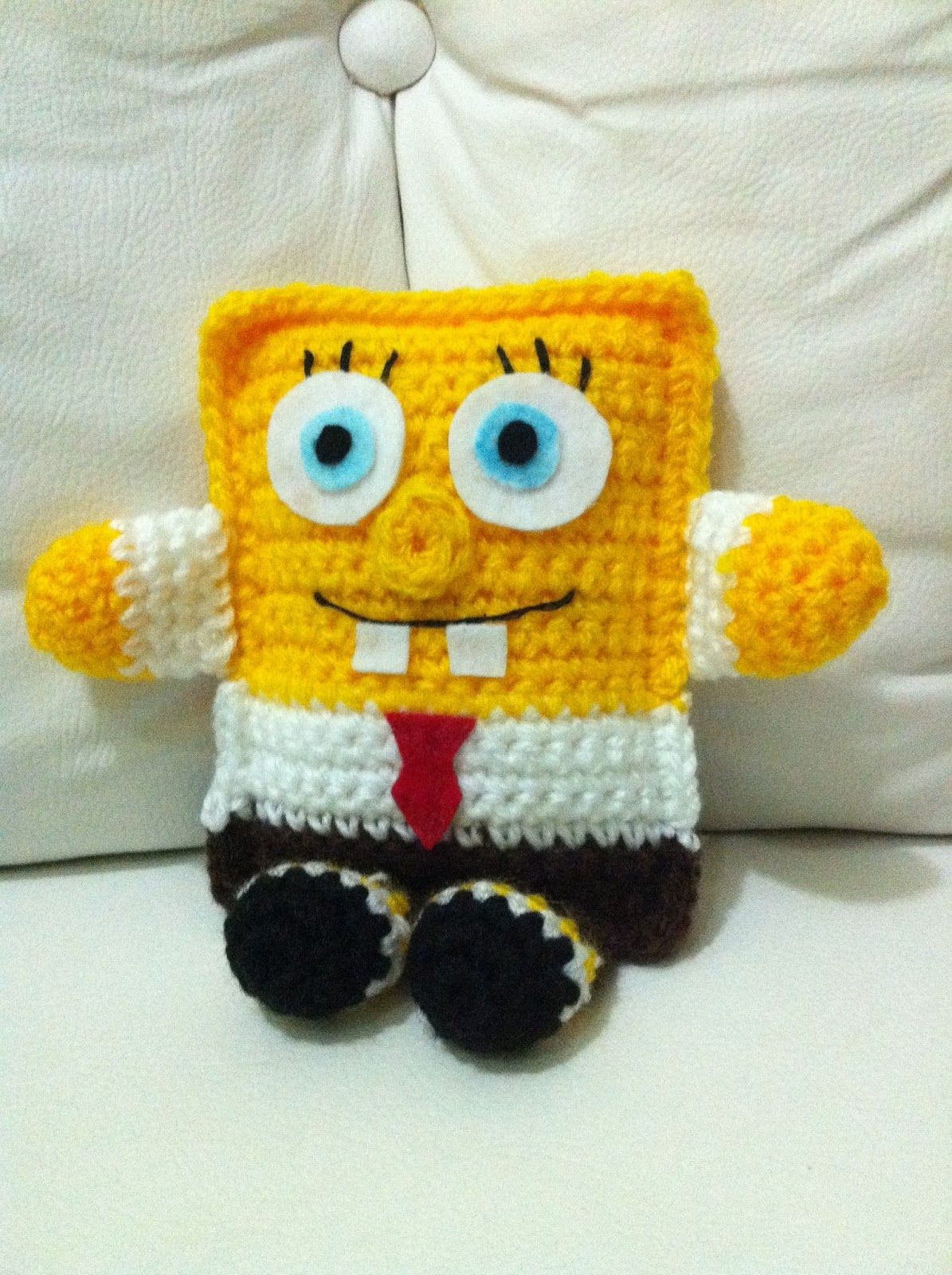 Maluquices: Crochê: Bob Esponja   crochet   Pinterest