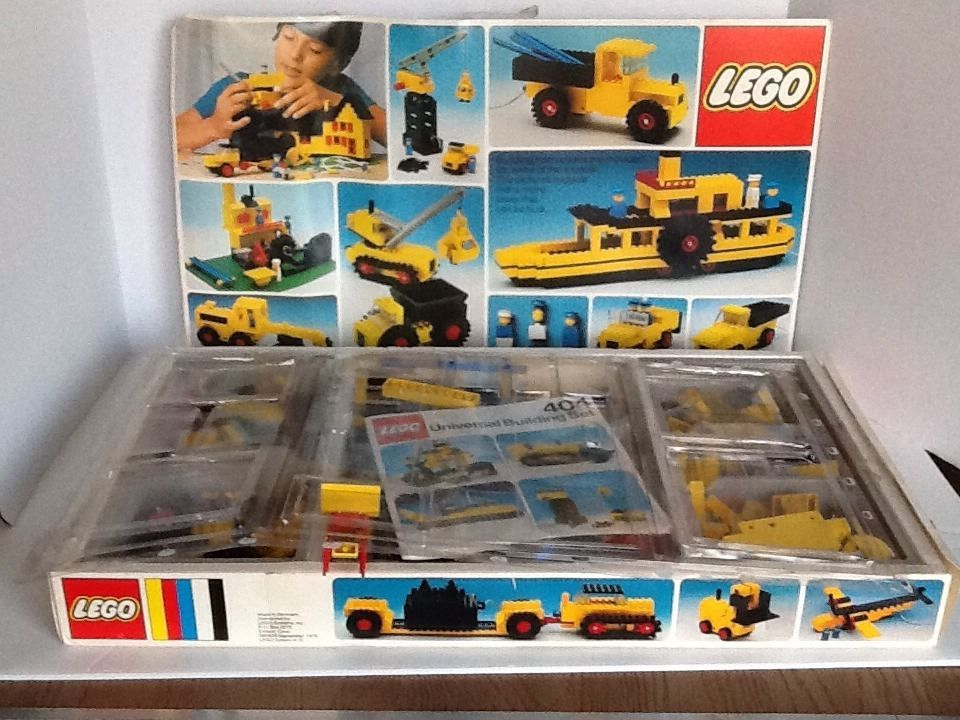 Lego Universal Building Set 404 Vintage Instructions Parts Pieces