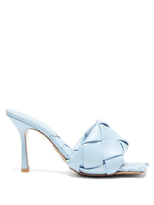 BV Lido Intrecciato-woven leather sandals | Bottega Veneta