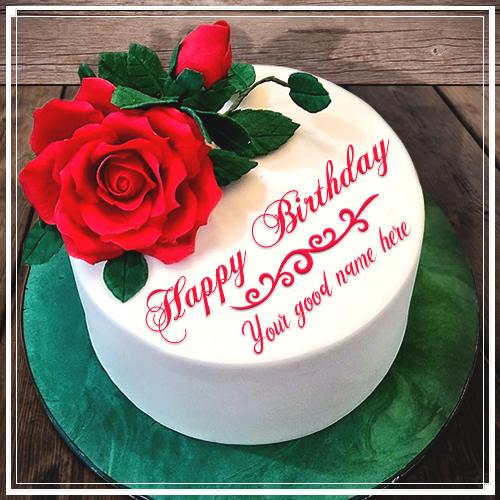 Unique Way Celebrate Rose Rose Birthday Cake With Name Generator Red Rose Birthday Cake With Name Edito Happy Anniversary Cakes Cake Name Online Birthday Cake