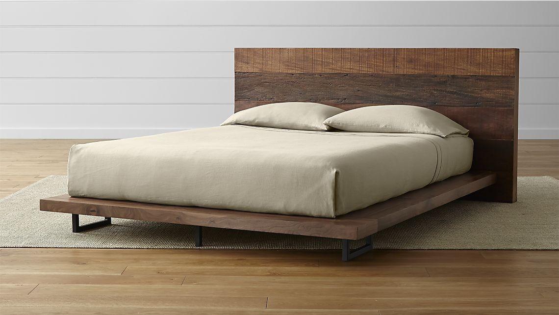 Pin By Calvin Yang On Br Space Modern Bed Frame Rustic Platform Bed Wood Platform Bed