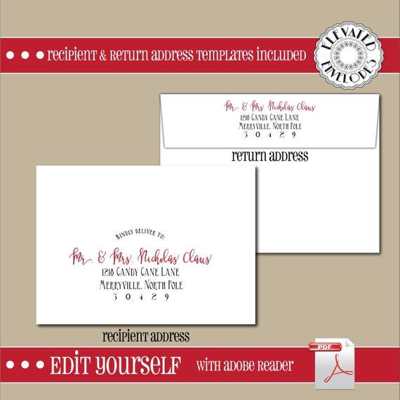 Editable Christmas Envelope Template Christmas Envelope Addressing