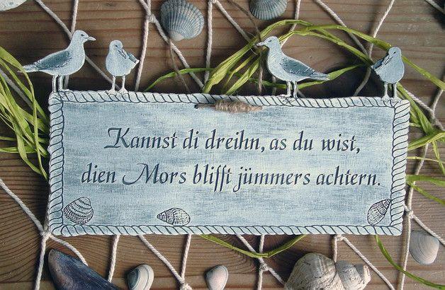 Türschild Plattdeutsch Plattdüütsche Sprüche Holz
