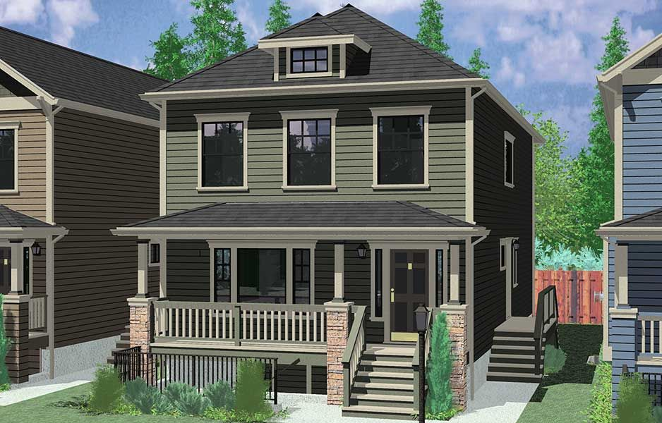 Duplex house plans - Great plan for growing families or ...