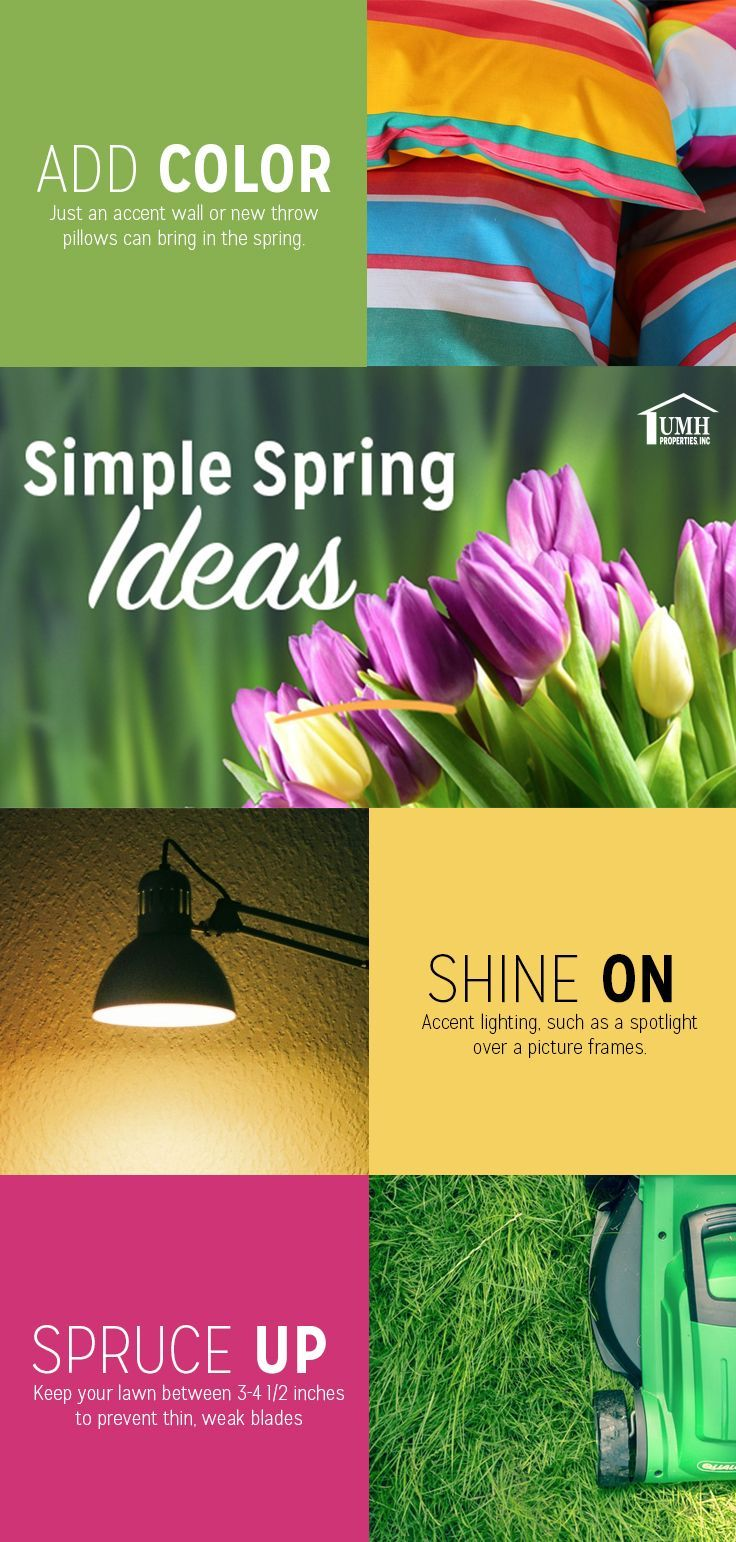 Simple spring ideas UMH Properties Home improvement