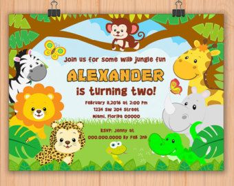 Items similar to safari jungle invitation boys 1st birthday invite items similar to safari jungle invitation boys 1st birthday invite custom vintage boy first card banner filmwisefo