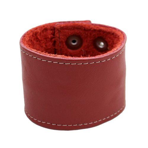 Rust Brown Leather Cuff Unisex Bracelet Wristband Money Cuff