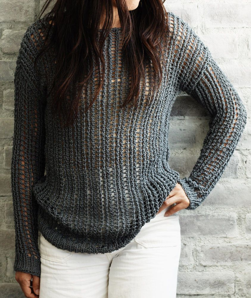 Free Knitting Pattern for 2 Row Repeat Bay Street Pullover - This ...