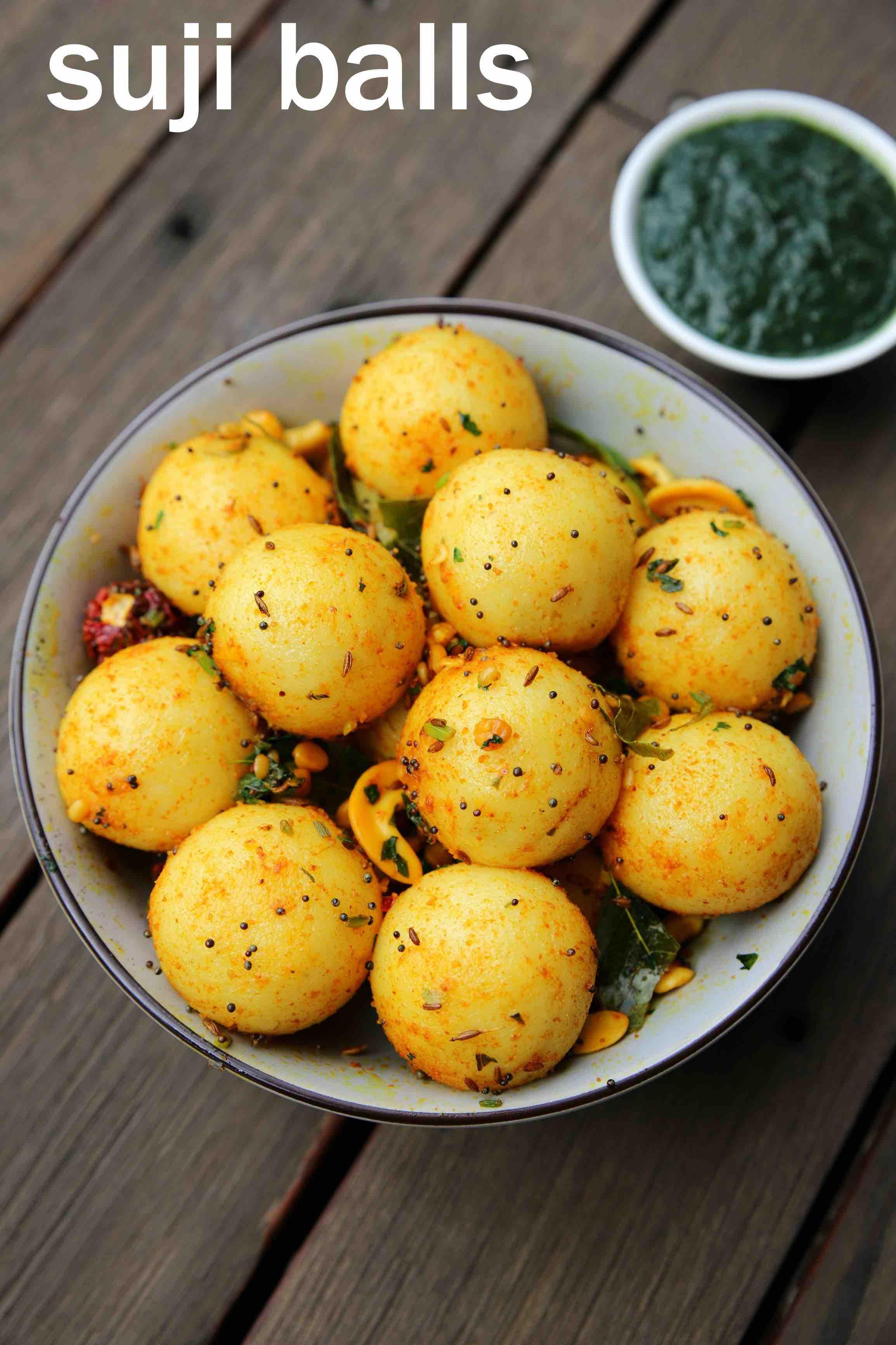 Sooji Balls Recipe Semolina Balls Rava Balls Easy Breakfast Recipe Recipe Breakfast Recipes Indian Breakfast Recipes Easy Indian Dinner Recipes