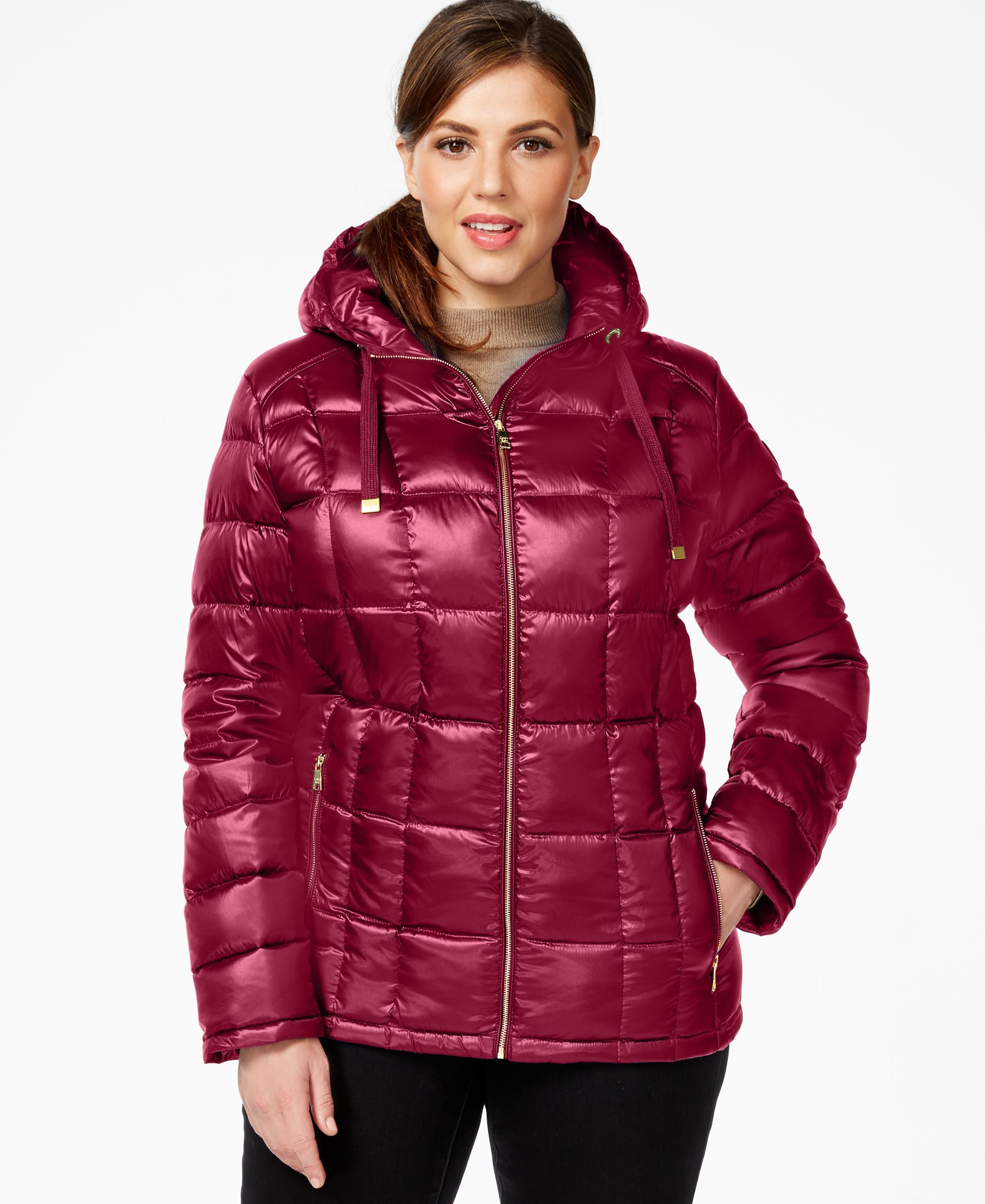 Size Plus Packable Calvin Klein Hooded Puffer Jacket rthQdsCx
