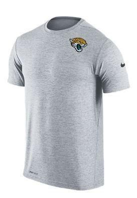 922f6a61 A short sleeve grey dri-fit shirt with the jags head logo on the ...