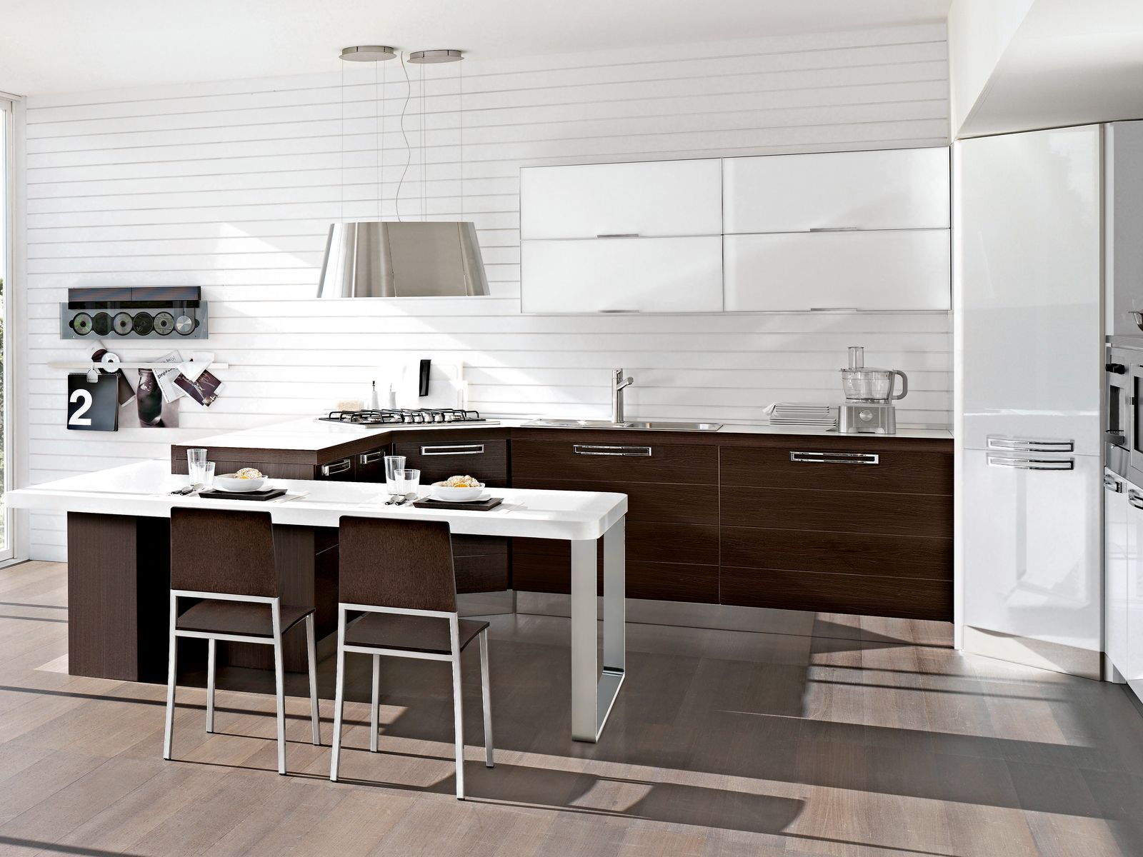 La cucina  in soggiorno  Cucine  Pinterest  Cuisine blanche Cuisine salle  manger e