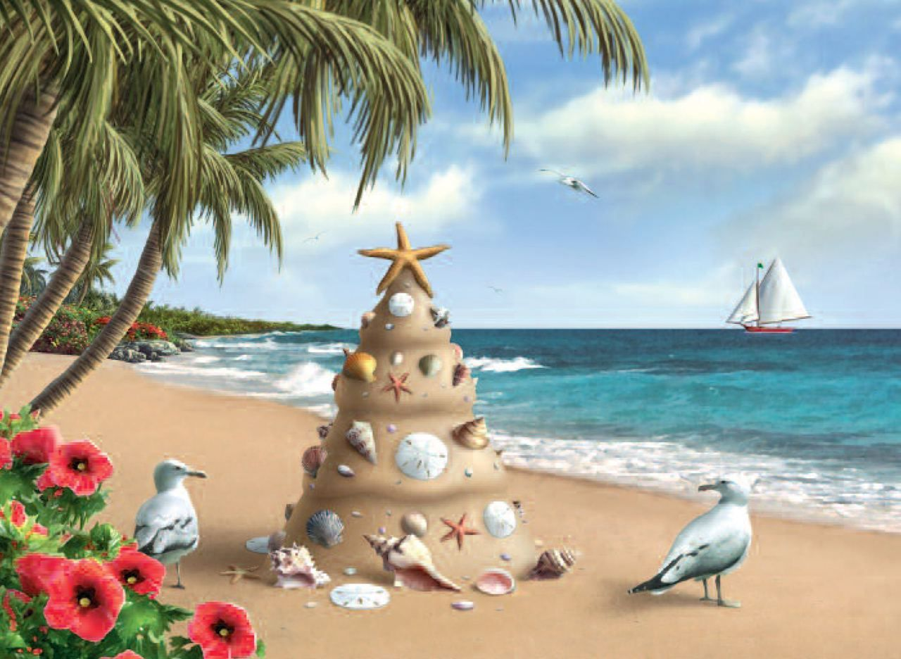 Sand Tree Christmas Cards | Painted! and drawing | Pinterest ...