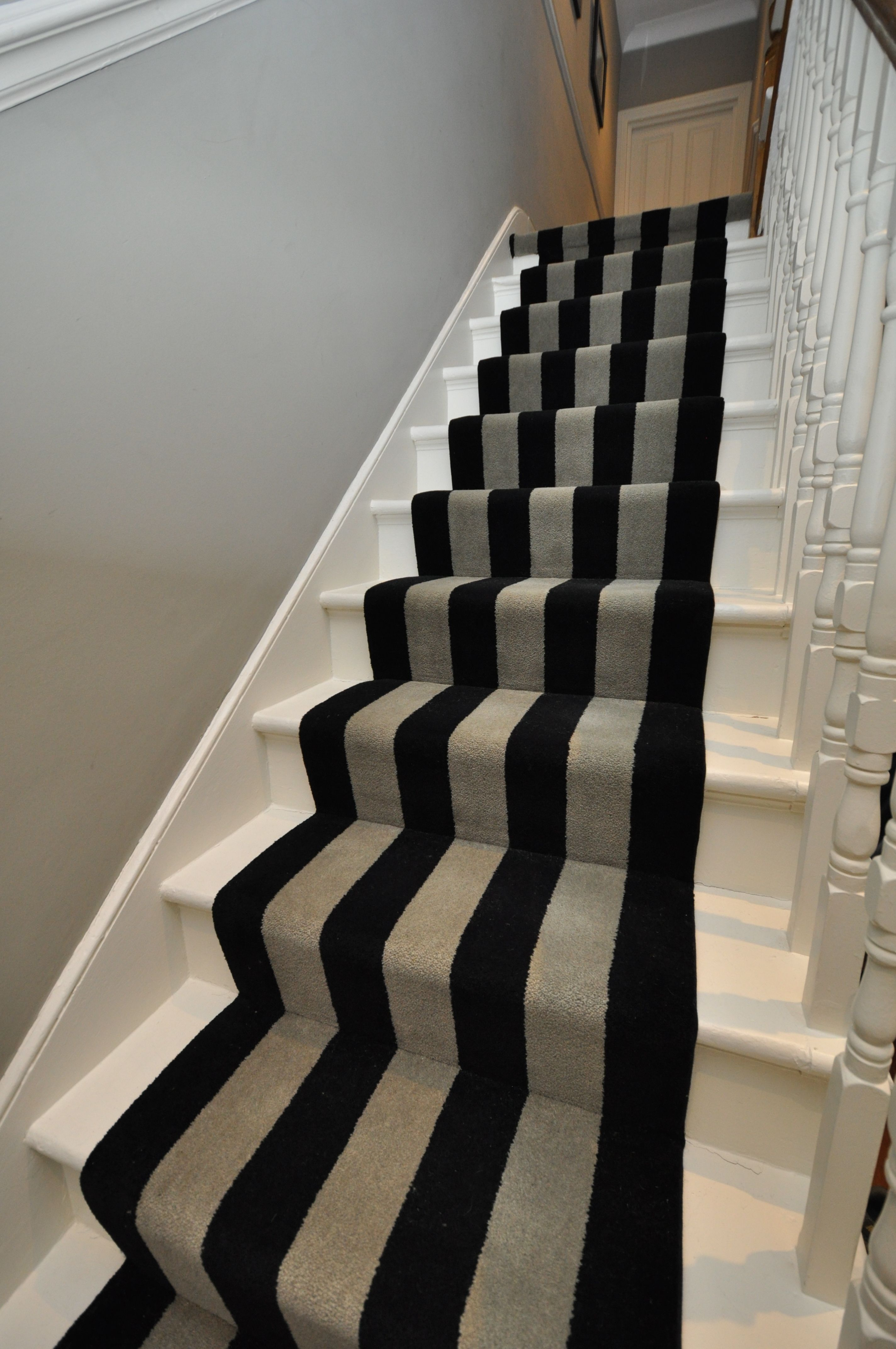 5 003 Bespoke Carpet Bespoke Striped Carpet Stair Runners With Fully Fitted  Landings Fitted In
