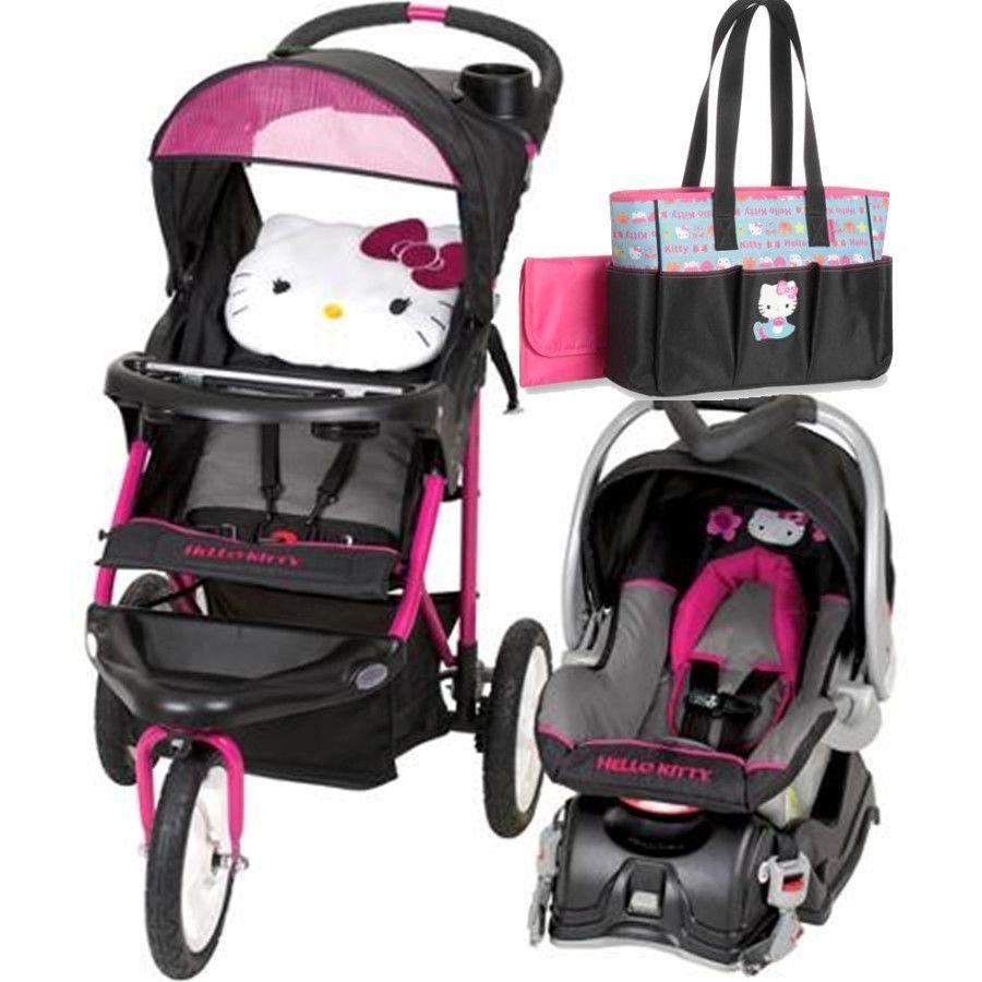 hello kitty jogging stroller travel system car seat diaper bag included travel system. Black Bedroom Furniture Sets. Home Design Ideas