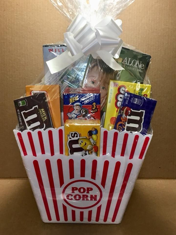 33 Diy Gift Basket Ideas For Men Women And Babies On A Limited Budget Dollar Tree Gifts Family Gift Baskets Movie Basket Gift