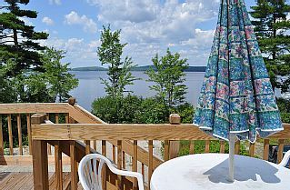 Vacation Lodge on a  beautiful 200 ft. private sand beach on Molasses Pond   Vacation Rental in Eastbrook from @homeaway! #vacation #rental #travel #homeaway