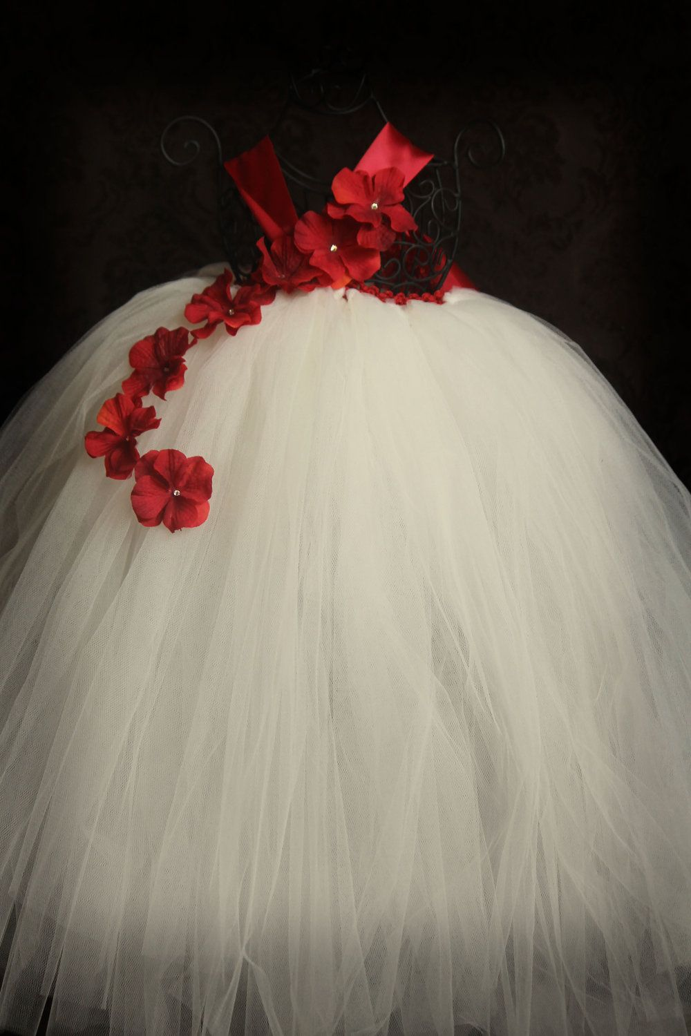 25065c4dd0 Christmas Tutu halter dress red and ivory sizes 6months-3t other colors  available.  55.00