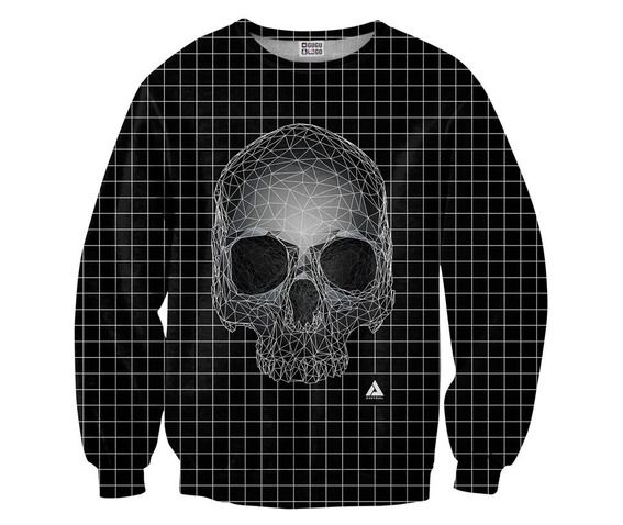 Square skull sweater from mr gugu and miss go hoodies and sweatshirts 2