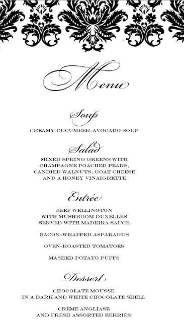stranded in cleveland elegant dinner party menu beef wellington