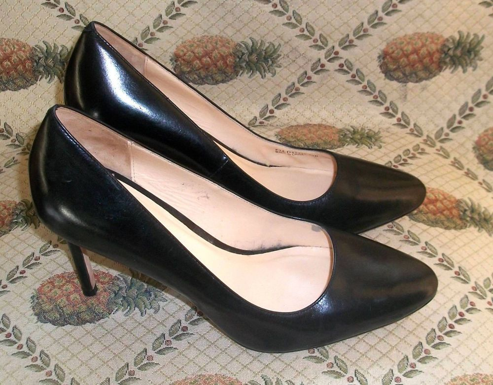 30131226922 NEW Cole Haan Classic Black Leather Bethany Grand.OS High Heel Pumps ...