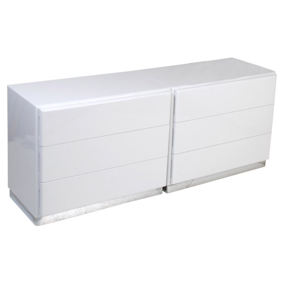 Matching Milo Baughman For Thayer Coggin White Lacquer Chest Of Drawers 1stdibs Com Stylish Cabinet Chest Of Drawers Drawers