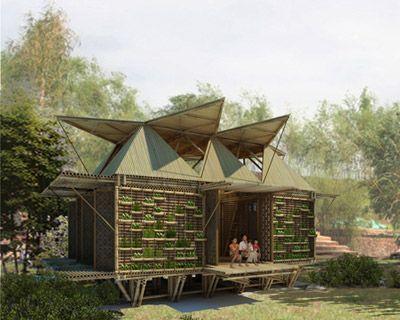 wohnprojekt in vietnam flutgefärdete regionen bambus häuser bauen