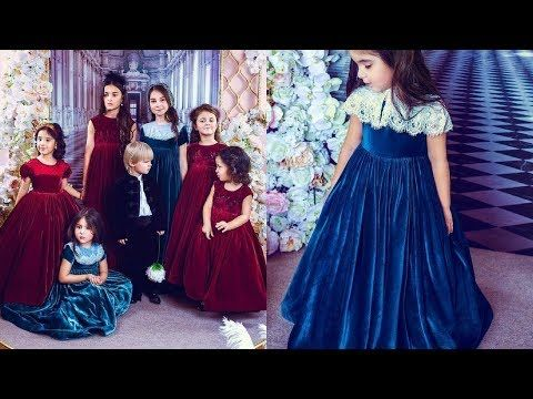 d5383831d4e2c stylish & beautiful velvet frocks designs for baby girls latest winter  collection - YouTube