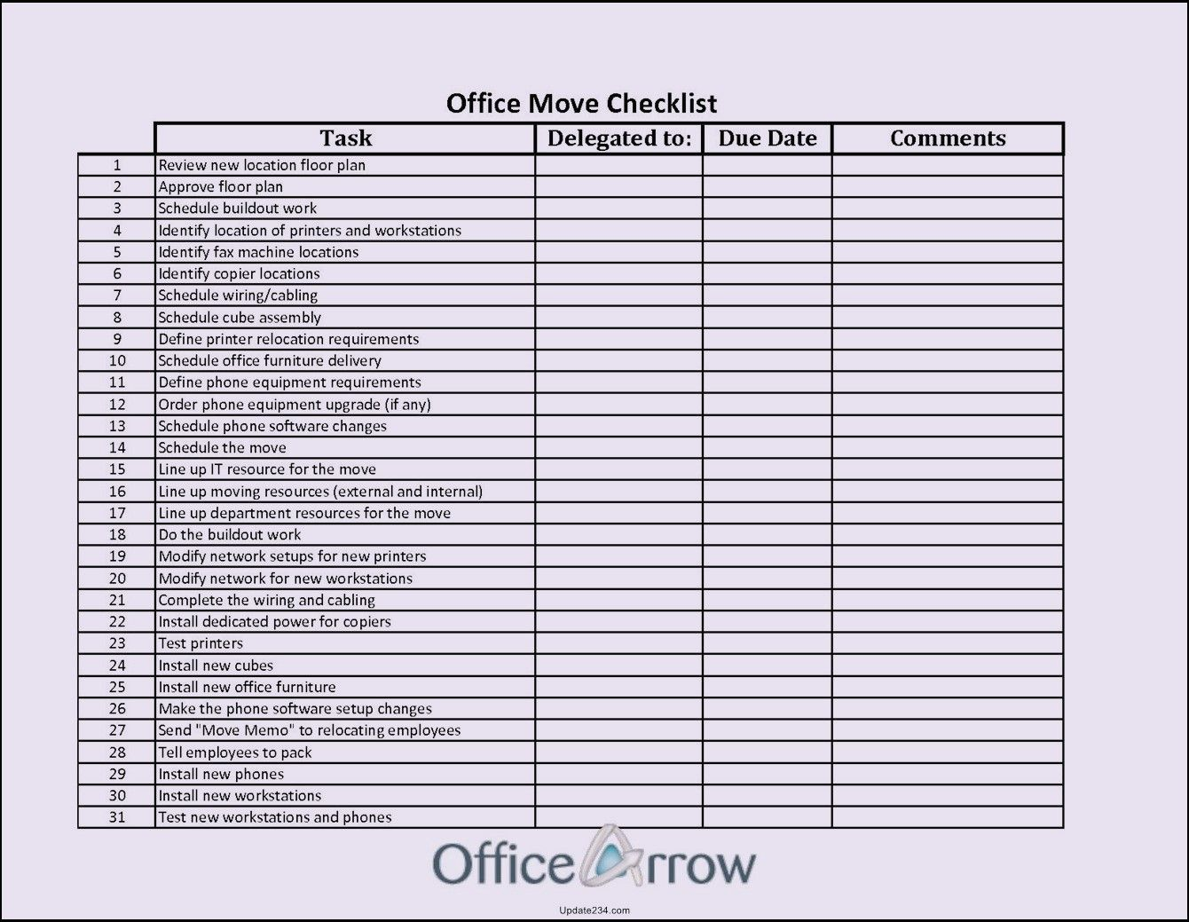 Office Move Project Plan Template New Fice Move Checklist Template Excel Template Update234 Budget Template How To Plan Office Moving