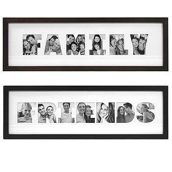 Family Photo Frame (from Only Living Idea Co.) cut out letters What ...