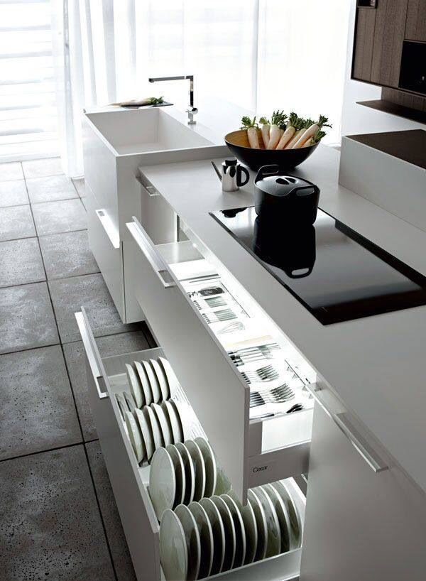 Clean cut lines. Smooth surface. Kitchen chic | Ideas grandes ideas ...