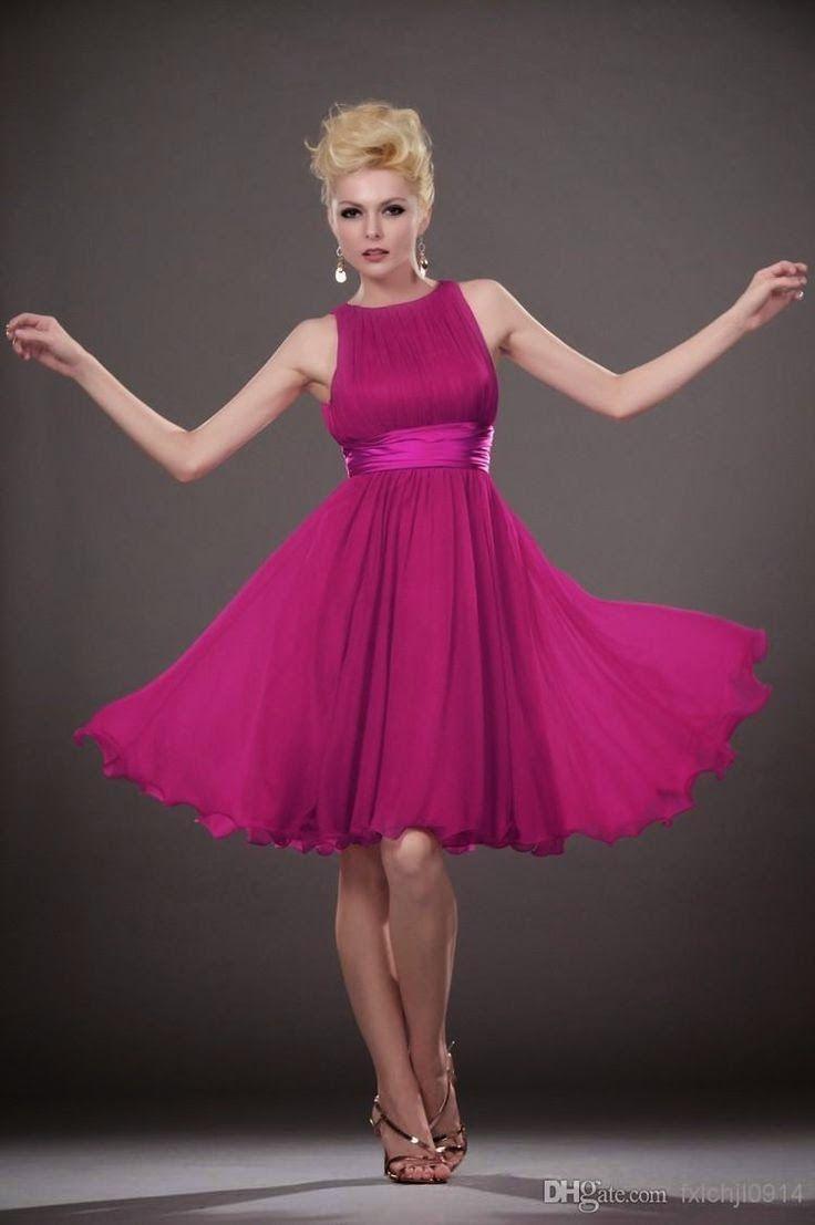 Modelos de Vestidos Cortos de color Morado, Purpura o Lila | Moda ...
