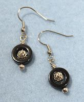 These earrings match the necklace that was featured in Bead Design Studio magazine.