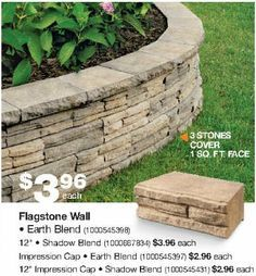 Image result for Stone Retaining Wall Home Depot   backyard ideas ...