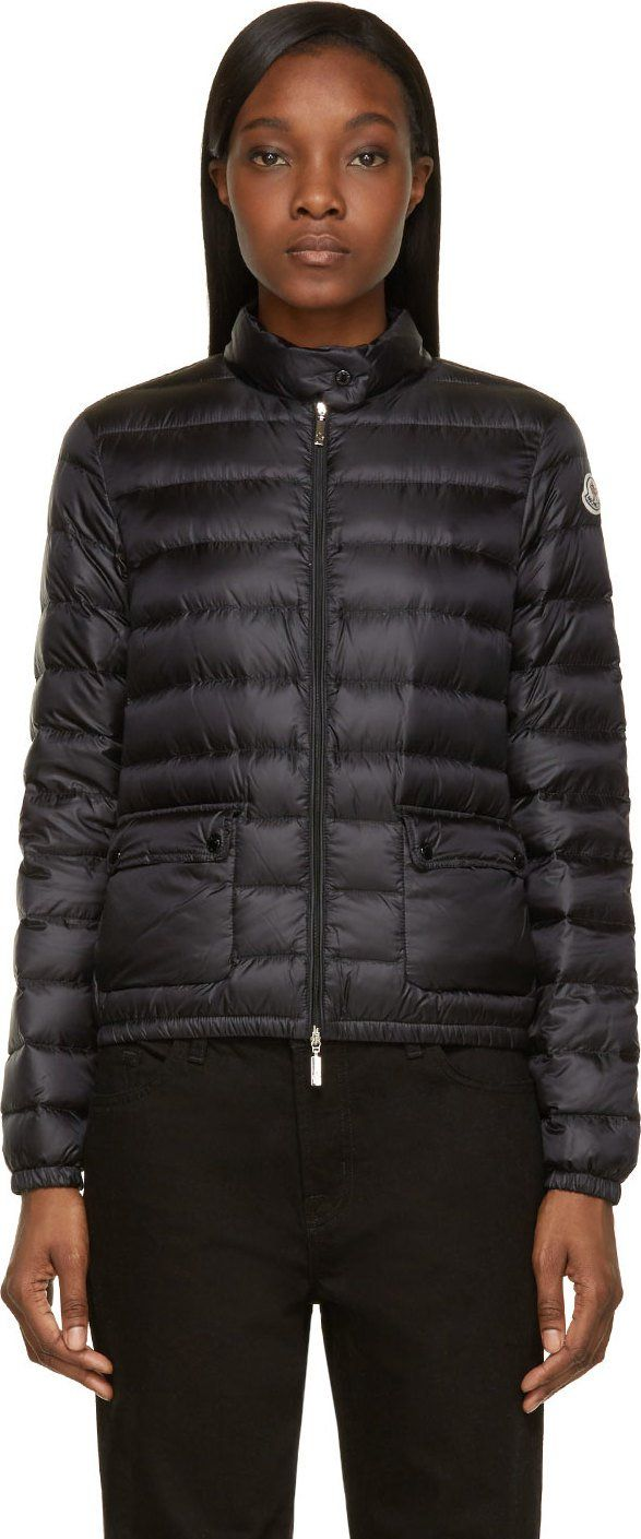moncler black down lans jacket