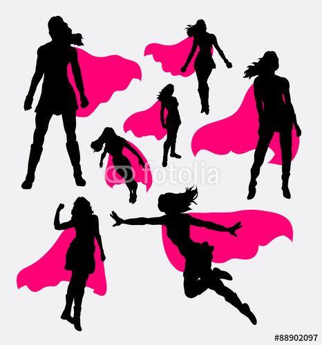 Vector: Female superhero silhouettes | Church - YW Camp ...